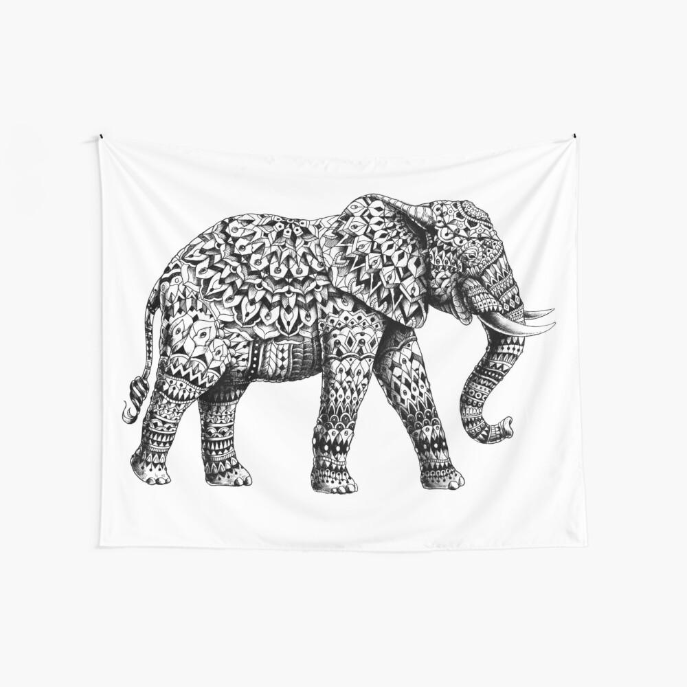 Verzierter Elefant 3.0 Wandbehang