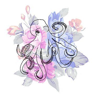 Floral Octopus (2) by Bfiggins