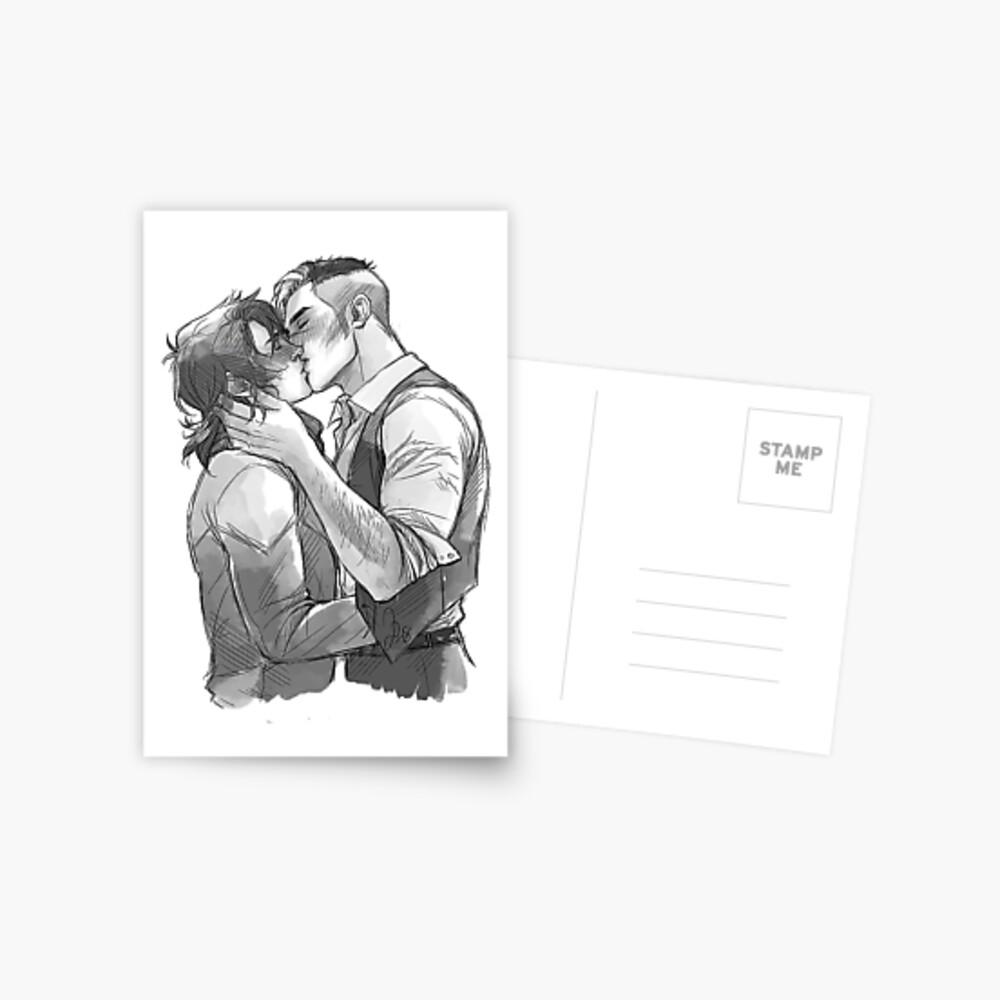 Shiro und Keith Postkarte