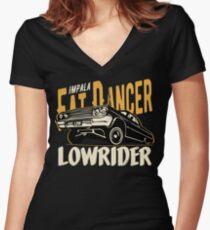 Impala Lowrider - Fat Dancer Tailliertes T-Shirt mit V-Ausschnitt