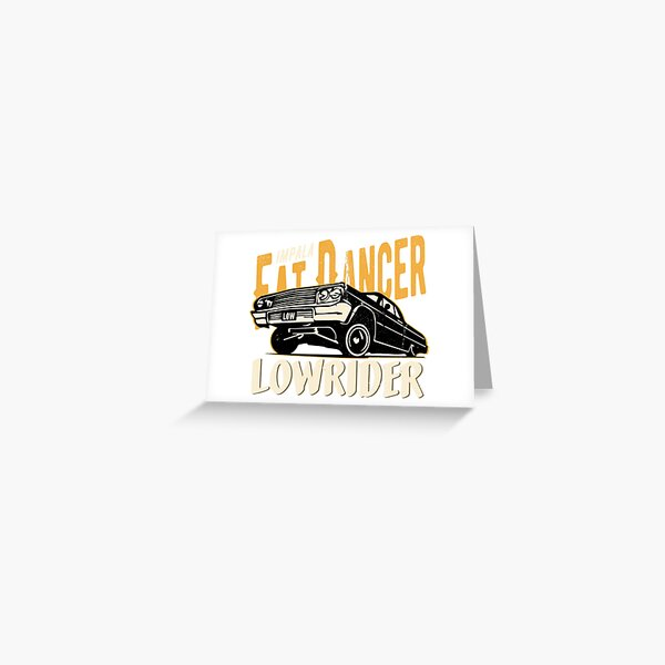 Impala Lowrider - Fat Dancer Greeting Card