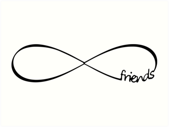 """Friends Infinity Infinity Symbol Forever"" Art Print by ..."