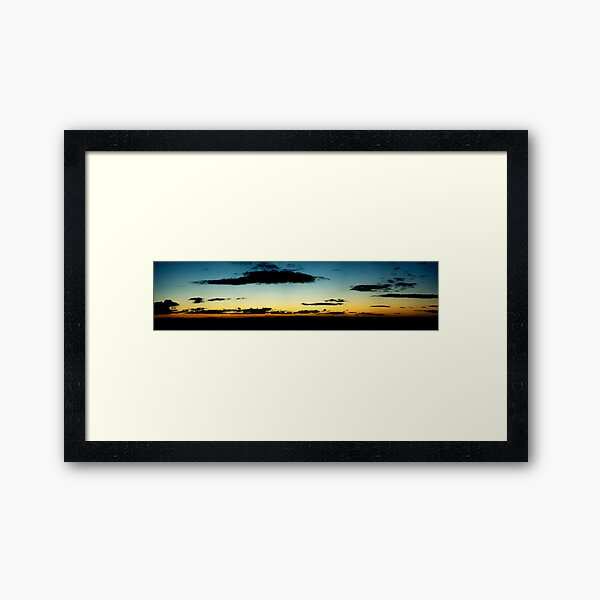 A Glasgow Sunset Framed Art Print
