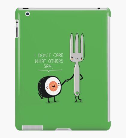 Sushi doesn't care iPad Case/Skin