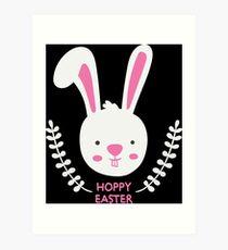 Hoppy Easter Bunny Art Print