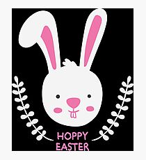 Hoppy Easter Bunny Photographic Print