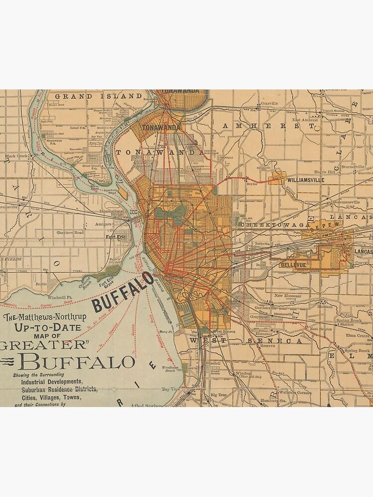 Vintage Map of Buffalo NY (1893) by BravuraMedia