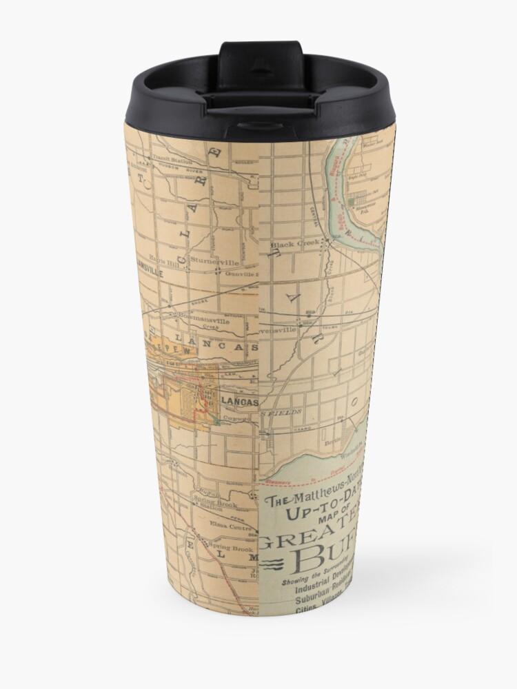 Alternate view of Vintage Map of Buffalo NY (1893) Travel Mug