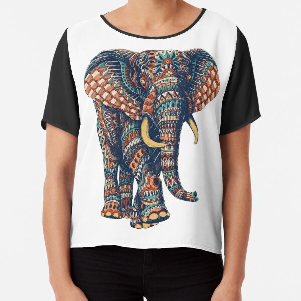 Ornate Elephant v2 (Color Version) Chiffon Top