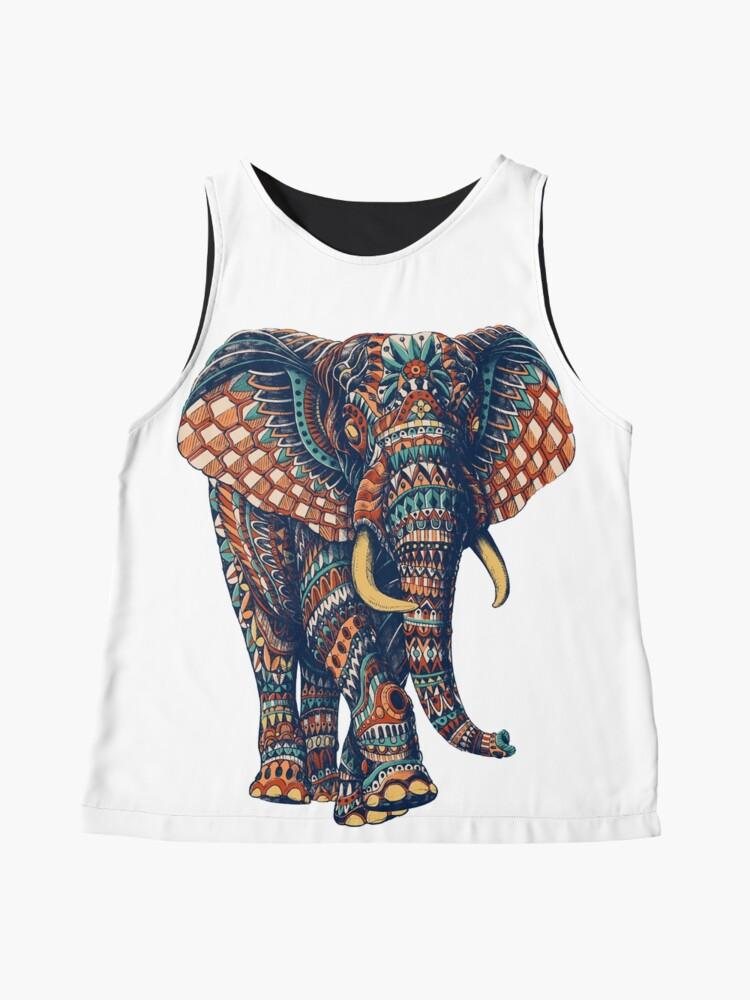 Alternate view of Ornate Elephant v2 (Color Version) Sleeveless Top
