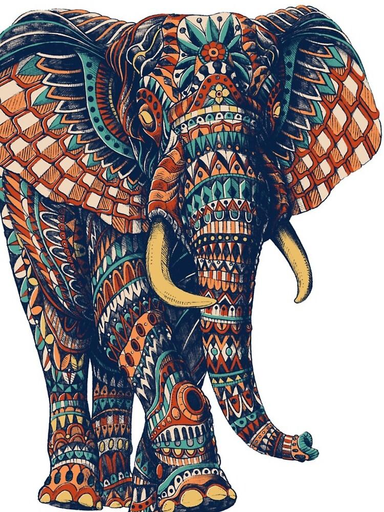 Verzierter Elefant v2 (Farbversion) von BioWorkZ