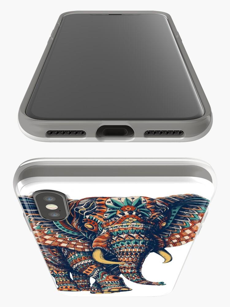 Alternative Ansicht von Verzierter Elefant v2 (Farbversion) iPhone-Hülle & Cover
