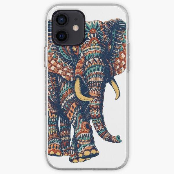 Ornate Elephant v2 (Color Version) iPhone Soft Case