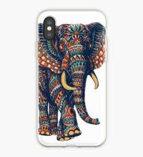 Ornate Elephant v2 (Color Version) iPhone Case