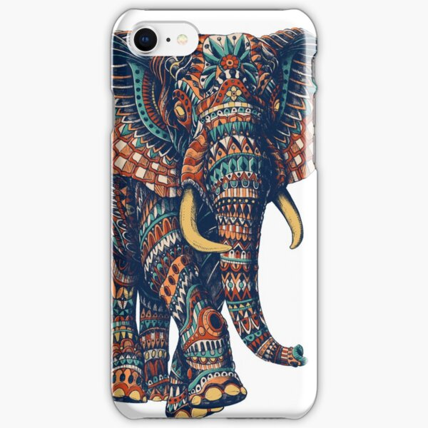 Ornate Elephant v2 (Color Version) iPhone Snap Case