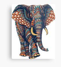 Lámina metálica Ornate Elephant v2 (Versión en color)
