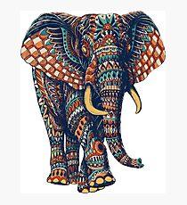 Verzierter Elefant v2 (Farbversion) Fotodruck