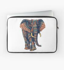 Funda para portátil Ornate Elephant v2 (Versión en color)