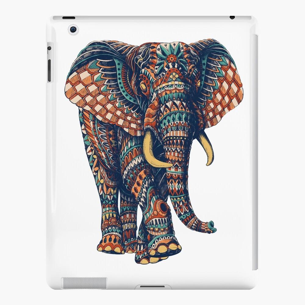Ornate Elephant v2 (Color Version) iPad Case & Skin