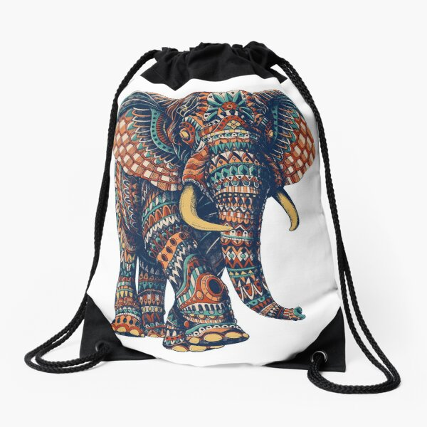 Ornate Elephant v2 (Farbversion) Turnbeutel