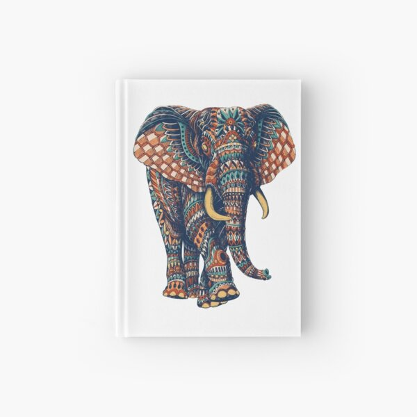 Ornate Elephant v2 (Color Version) Hardcover Journal
