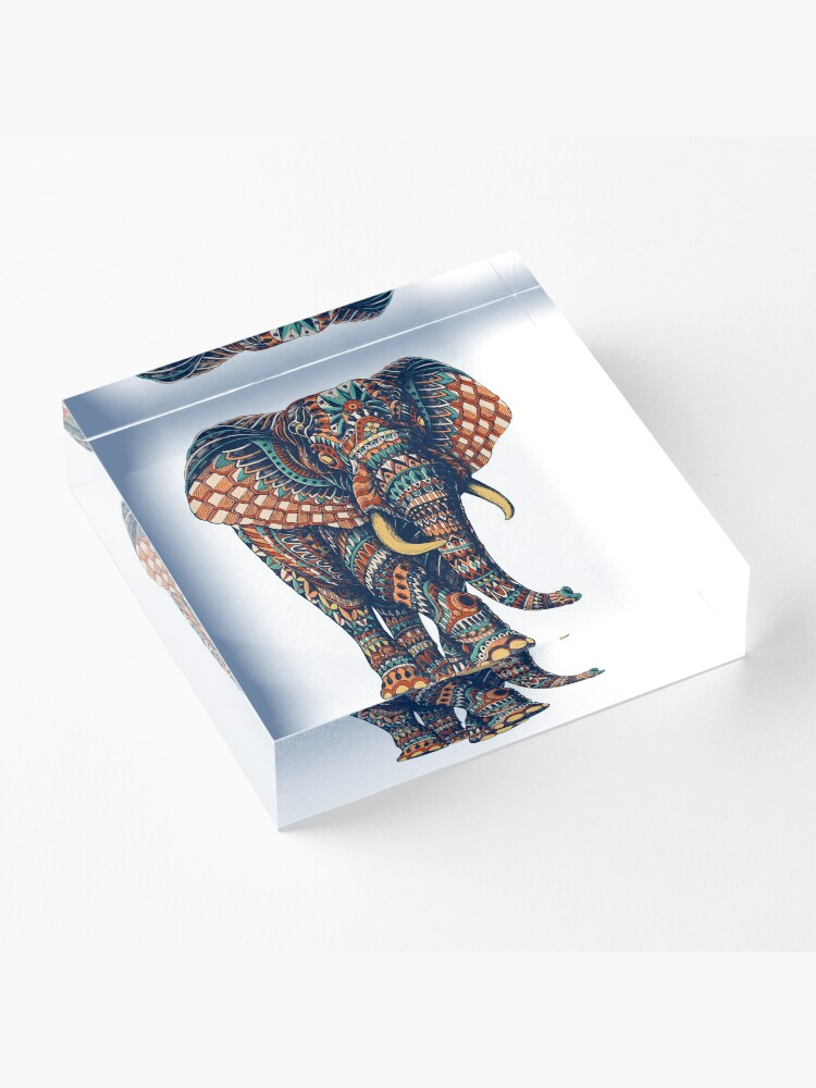 Alternate view of Ornate Elephant v2 (Color Version) Acrylic Block