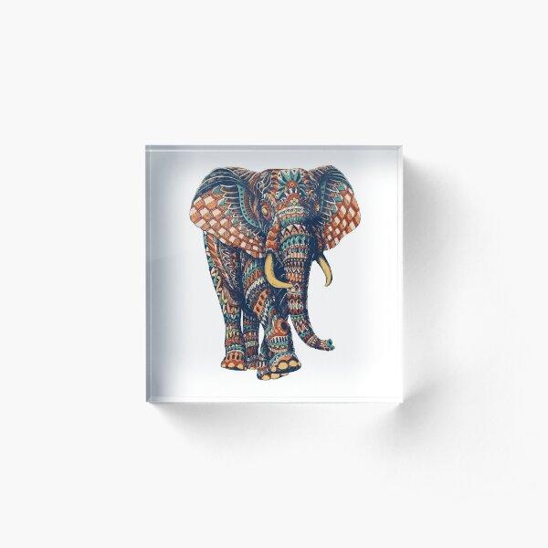 Ornate Elephant v2 (Color Version) Acrylic Block