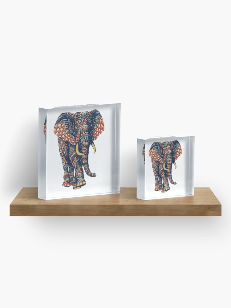 Alternate view of Ornate Elephant v2 (Color Version) Acrylic Block