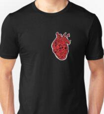 Anatomical Heart Cardiac Music T-shirt  Unisex T-Shirt