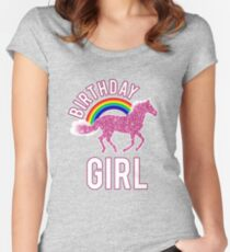 Birthday Cute Girl Awesome Graphic Women's Fitted Scoop T-Shirt