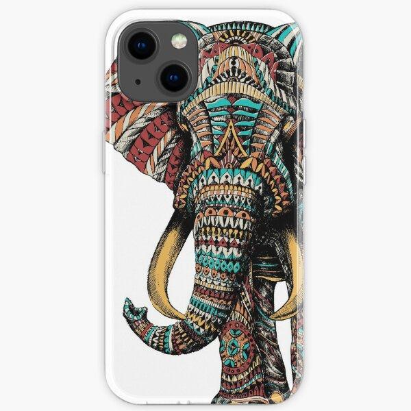 Ornate Elephant (Color Version) iPhone Soft Case