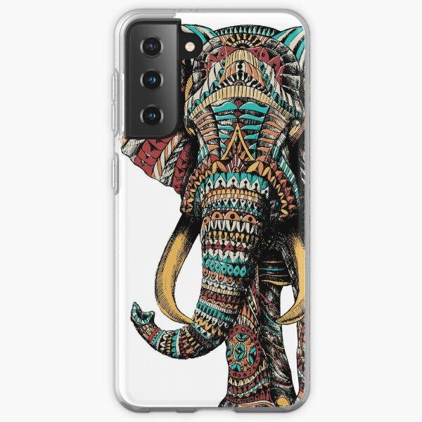 Verzierter Elefant (Farbversion) Samsung Galaxy Flexible Hülle
