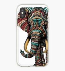 Verzierter Elefant (Farbversion) iPhone-Hülle & Cover