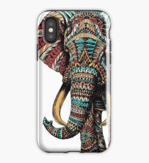 Verzierter Elefant (Farbversion) iPhone-Hülle & Cover