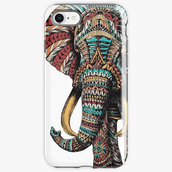 Ornate Elephant (Color Version) iPhone Tough Case