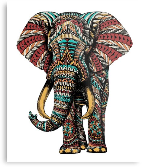 Ornate Elephant (Color Version) by BioWorkZ