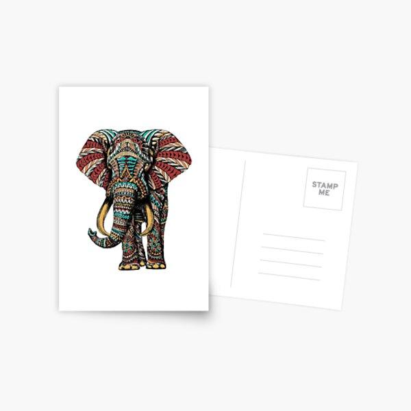 Ornate Elephant (Color Version) Postcard