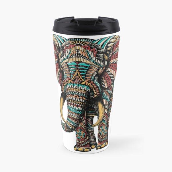 Ornate Elephant (Color Version) Travel Mug