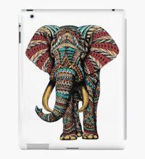 Verzierter Elefant (Farbversion) iPad-Hülle & Klebefolie