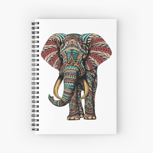 Ornate Elephant (Color Version) Spiral Notebook