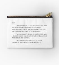 Anonymous Letter to Sammi Studio Pouch