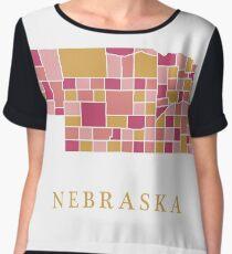 Nebraska map Chiffon Top
