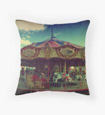 The Carnival Carousel ttv Throw Pillow