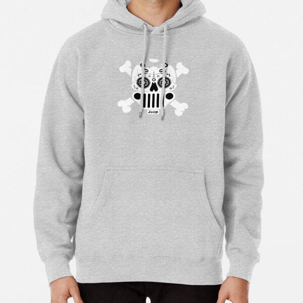 4x4 Zip Up Hoodie XJ Cherokee Skull Hooded Sweatshirt for Men