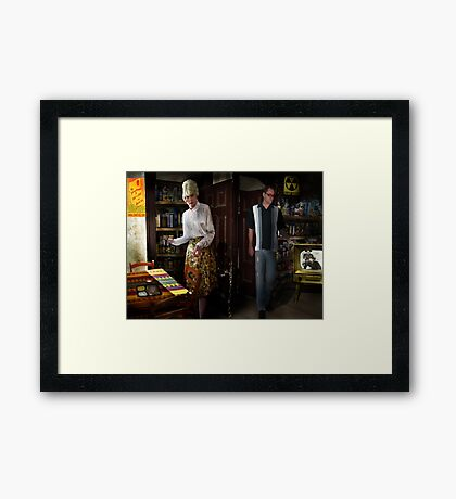 Home Fallout Shelter Framed Print