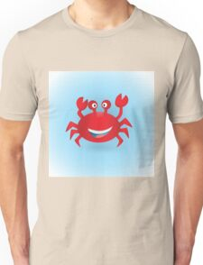 Cute hand drawn red crab. Tropical sea life design. Unisex T-Shirt