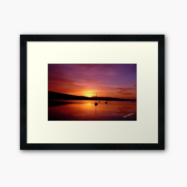 Sunrise Gareloch Framed Art Print