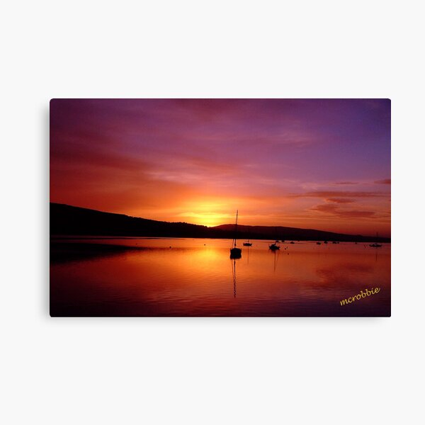 Sunrise Gareloch Canvas Print