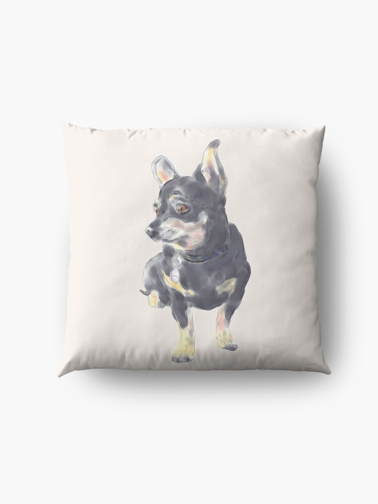 Alternate view of Little Dog Waiting Floor Pillow
