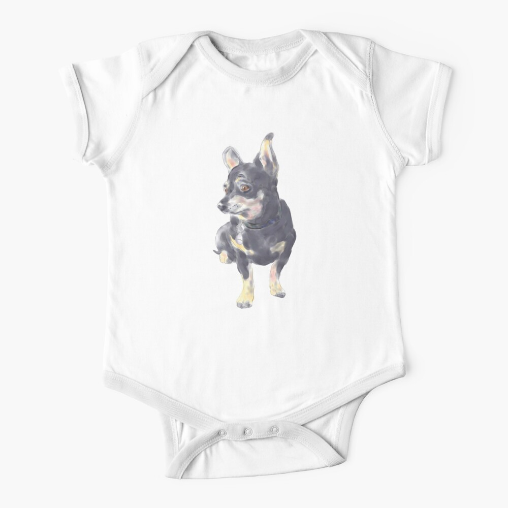 Little Dog Waiting Baby One-Piece